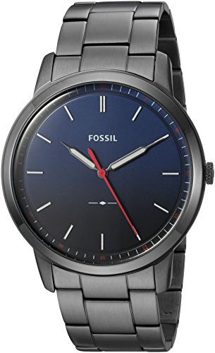 10 Cheap Men's Watches That Look Expensive In 2020 - Fossil Round Ionic Plate Blue Watch
