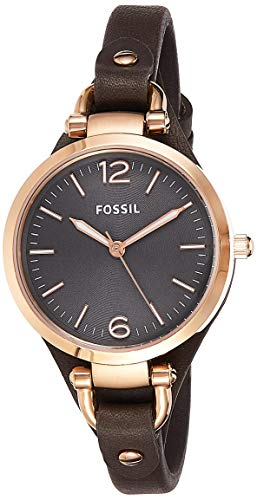 Top 13 Cheap Women's Watches That Look Expensive - Fossil Women's Georgia Quartz Stainless Steel and Leather Casual Watch