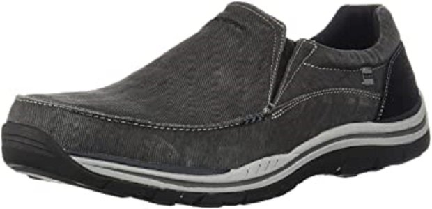 Most Comfortable Men's Shoes for Standing All Day - Skechers Men's Relaxed-Fit Slip-On Loafer