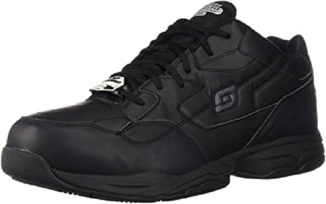 Most Comfortable Men's Shoes for Standing All Day - Skechers for Work Men's Relaxed-Fit Work Shoe